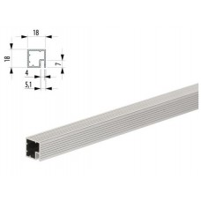 V80 Профиль-плашка под ДВП, алюминий, L-4,6м., м.пог.