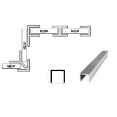 Планка стеновой 4мм. торцевая П-образная (L-3,06м.), алюминий, м.пог.