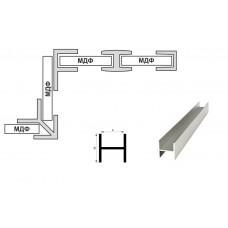 Планка стеновой 4мм. соединительная Н-образная (L-3,06м.), алюминий, м.пог.