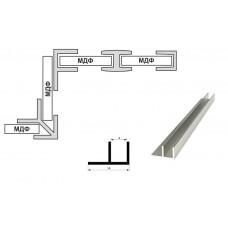 Планка стеновой 4мм. угловая F-образная (L-3,06м.), алюминий, м.пог.