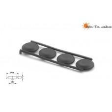 Заглушка винта опоры кухонной d24 под шестигранник, белая