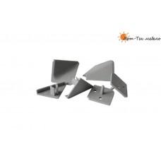 PLN AL Комплект заглушек для алюмин. плинтуса, серый