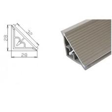PLN AL  Плинтус столешницы 3м. алюминевый рифленый, прямой, шт.