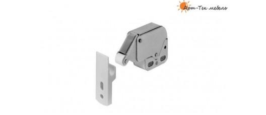 Толкатель фасадов нажимной Mini-latch 90075/16, с ответной частью