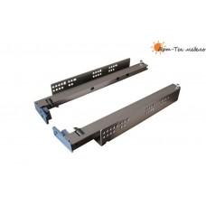 Направляющие Quadro RC-03 скрытые 300мм. с доводом (под ящик 290мм.), цинк