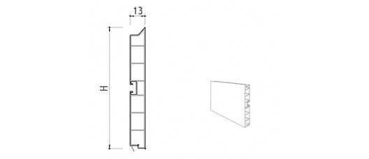 Цоколь пластиковый h=100 L=4м., белый
