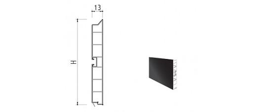 Цоколь пластиковый h=100 L=4м., черный