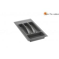Лоток серый Volpato х350 (w270) для столовых приборов