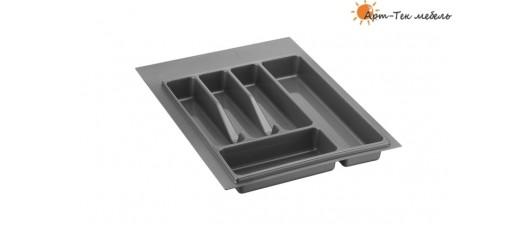 Лоток серый Volpato х400 (w340) для столовых приборов