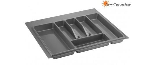 Лоток серый Volpato х600 (w540) для столовых приборов