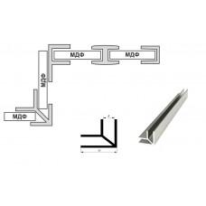 Планка стеновой 4мм. угловая U-образная (L-3,06м.), алюминий, м.пог.