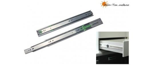 Направляющие FGV шариковые, сталь 1,5мм., H45х450мм. с доводом (C745XC0), компл.