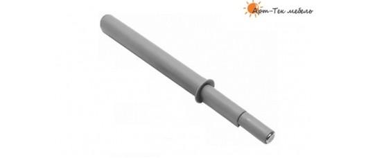 Толкатель фасадов врезной +40мм. с магнитом, под отв. d-12мм., серый