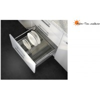 Вкладыш для тарелок Ago-Plate в ящик Hettich Innotech х600мм., серый
