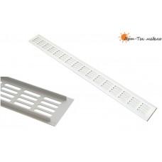 Решетка вентиляционная в столешницу, 400х60мм. серебристая RA640S, алюминий