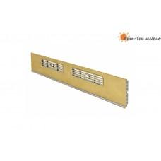 Решетка вентиляционная в цоколь, малая 170х34мм., бежевая